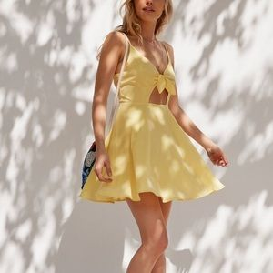 Yellow Urban Outfitters Skater Dress